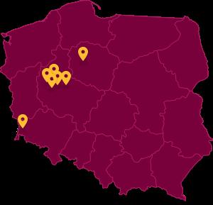 Kluby na mapie Polski
